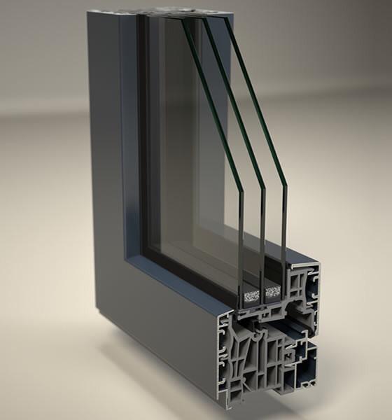 Profilo e sezione finestra alluminio e pvc