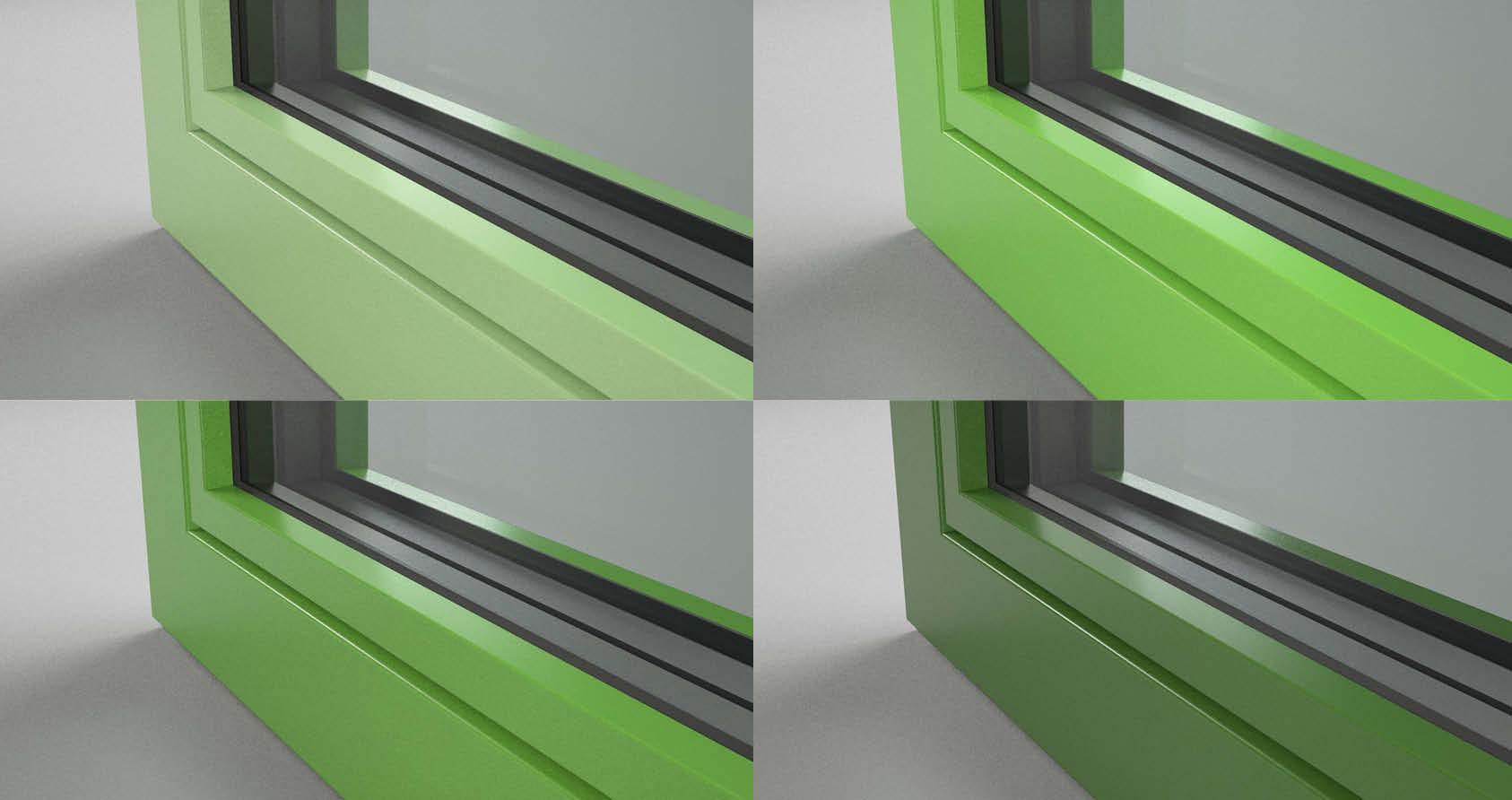 colori delle superfici in alluminio