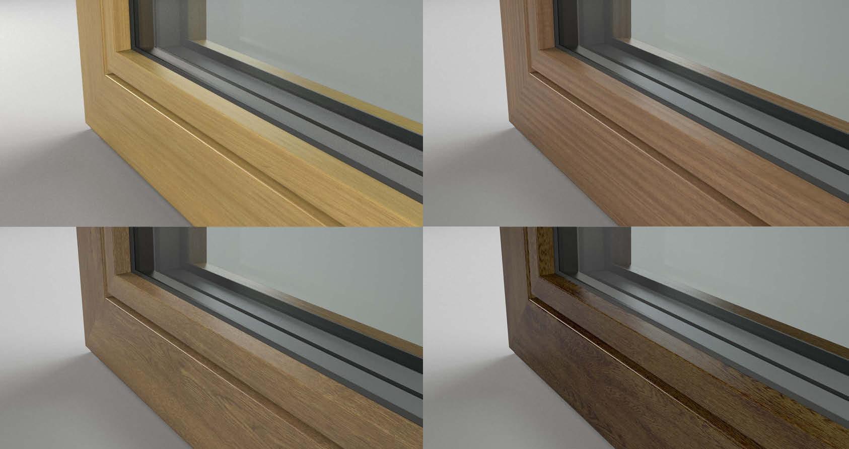 Finestre alluminio e pvc effetto legno