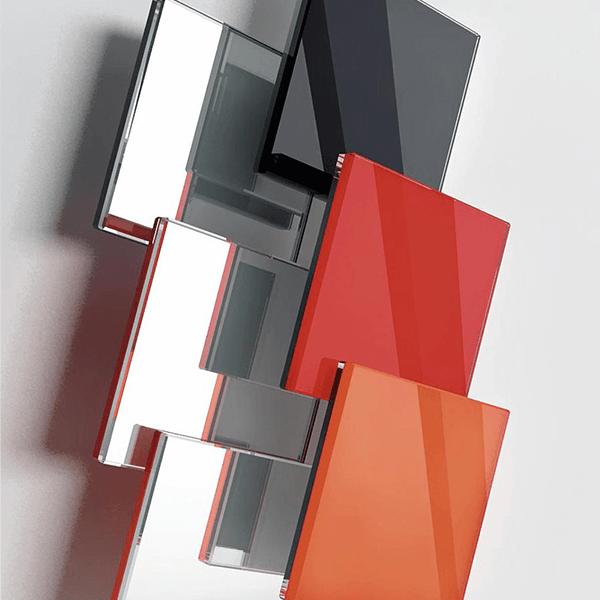 Vetri colorati coprenti con specchio per porte in vetro