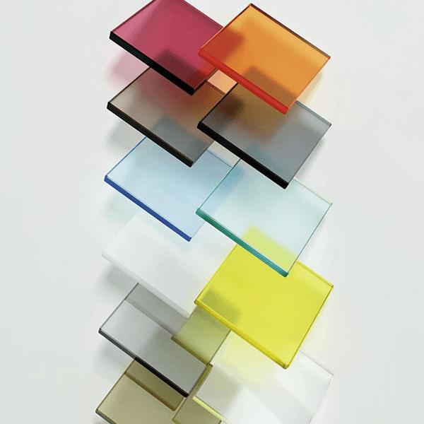 Vetri colorati satinati per porte in vetro